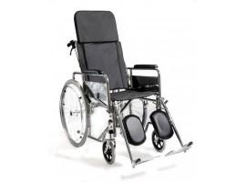 Αναπηρικό αμαξίδιο με ανακλινόμενη πλάτη μεταλλικό AC-49