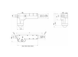 Μοτέρ Ανύψωσης Ποδιών Ηλεκτρικής Κλίνης AC-5054