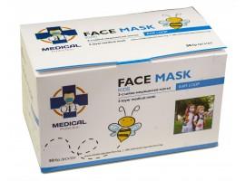 Παιδικές Μάσκες μιας χρήσης 3ply με λάστιχο  Σετ/50 τεμάχια