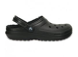 Crocs Classic Lined Clog Black Χειμερινό