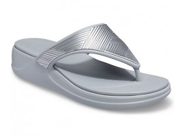 Crocs Monterey Metallic Wedge Flip