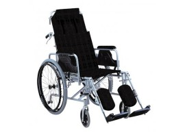 Αναπηρικό αμαξίδιο αλουμινίου με ανακλινόμενη πλάτη AC-59