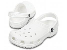 Crocs Γυναικείο Ανατομικό Σαμπό Classic White